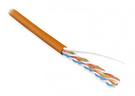 Купить Hyperline UUTP4-C5E-S24-IN-LSZH-OR-305 (305 м) Кабель витая пара, неэкранированная U/UTP, категория 5e, 4 пары (24 AWG), одножильный (solid), LSZH, нг(А)-HF, -20°C – +75°C, оранжевый - гарантия: 15 лет компонентная, 25 лет системная по лучшей цене в Москве